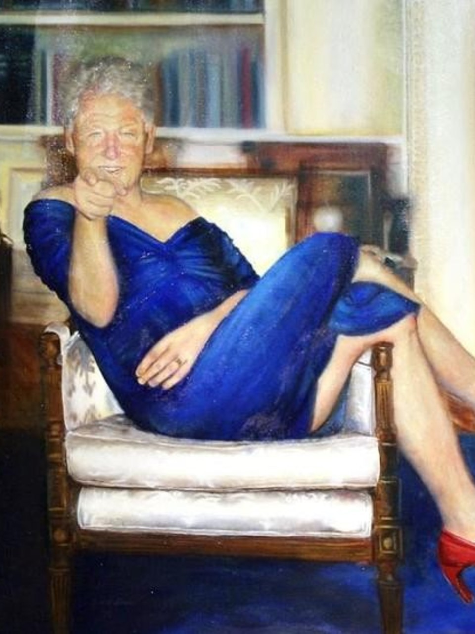 Report: Painting of former President Bill Clinton in a dress found ...