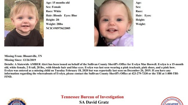Amber Alert Update Missing 1 Year Old From Sullivan County Found Dead Wcyb