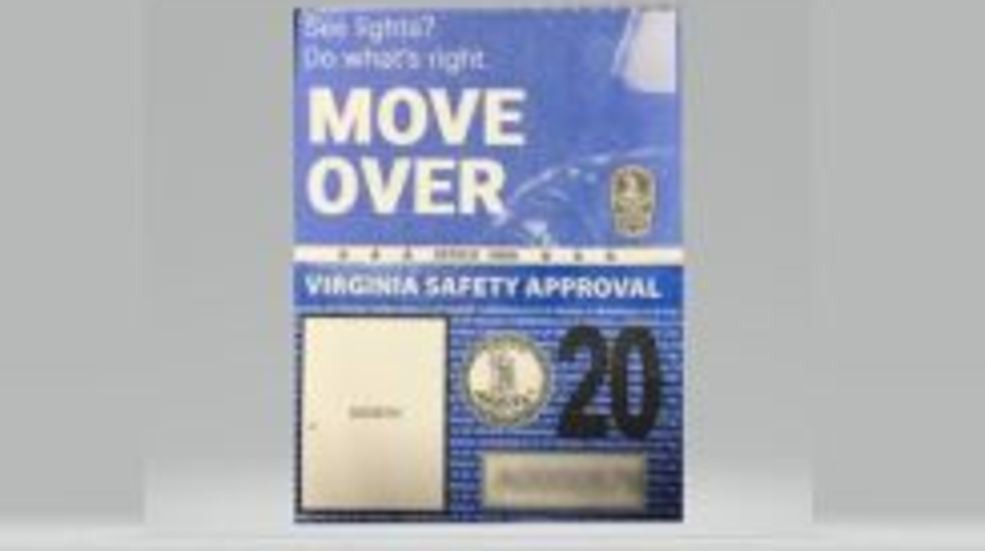 New look, new message with new Virginia inspection sticker